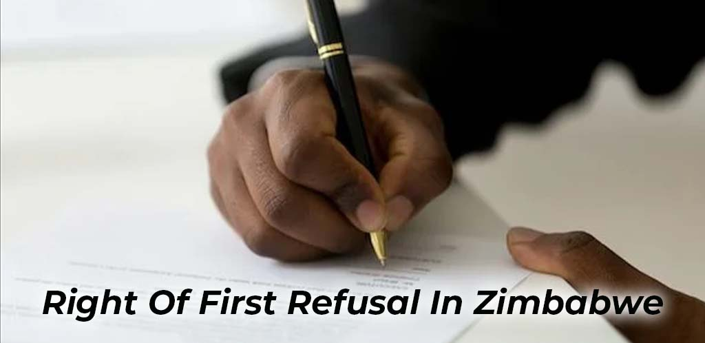 Right Of First Refusal In Zimbabwe